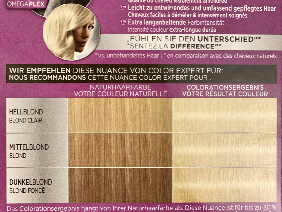 Paint for blondes